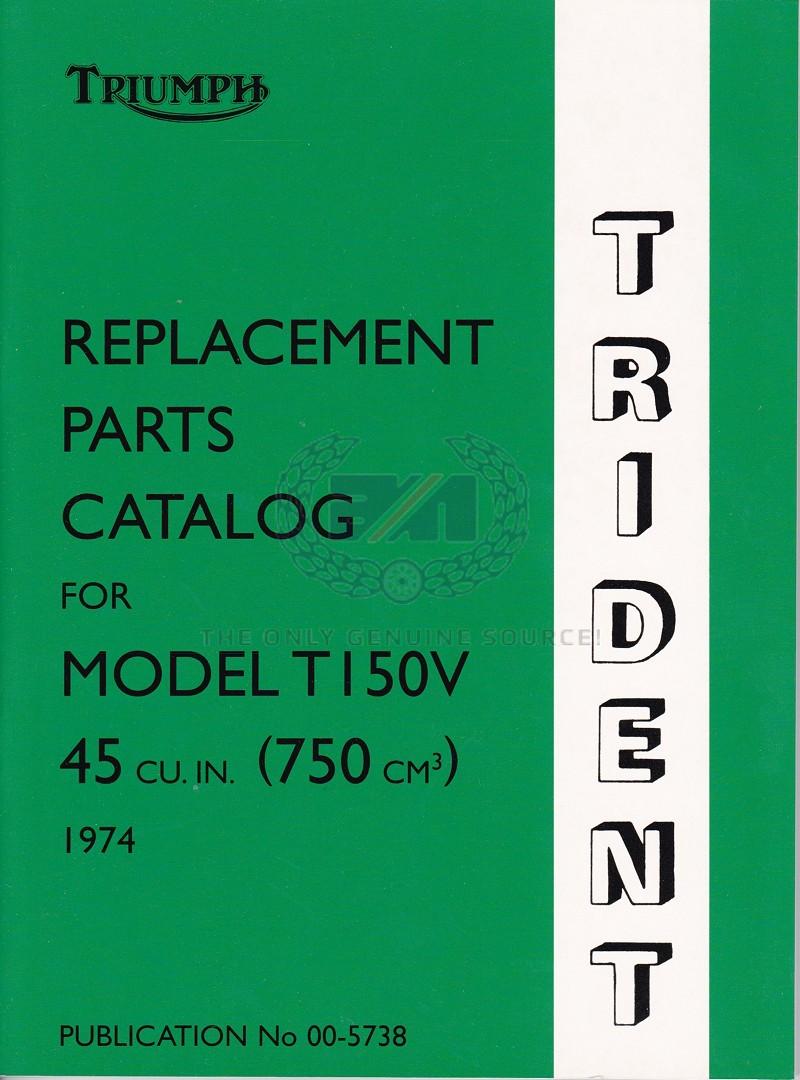 PARTS BOOK T150 1974
