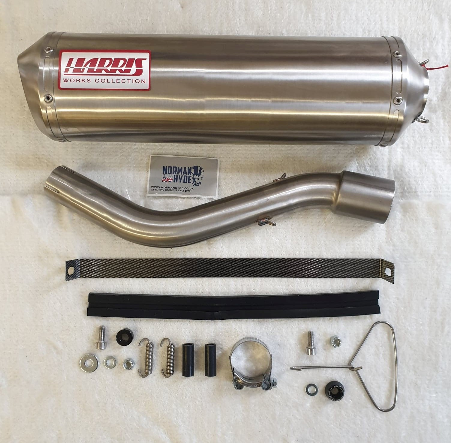 HARRIS WORKS COLLECTION STAINLESS SLIP-ON FOR YAMAHA XT 600 - E - K 1985/02