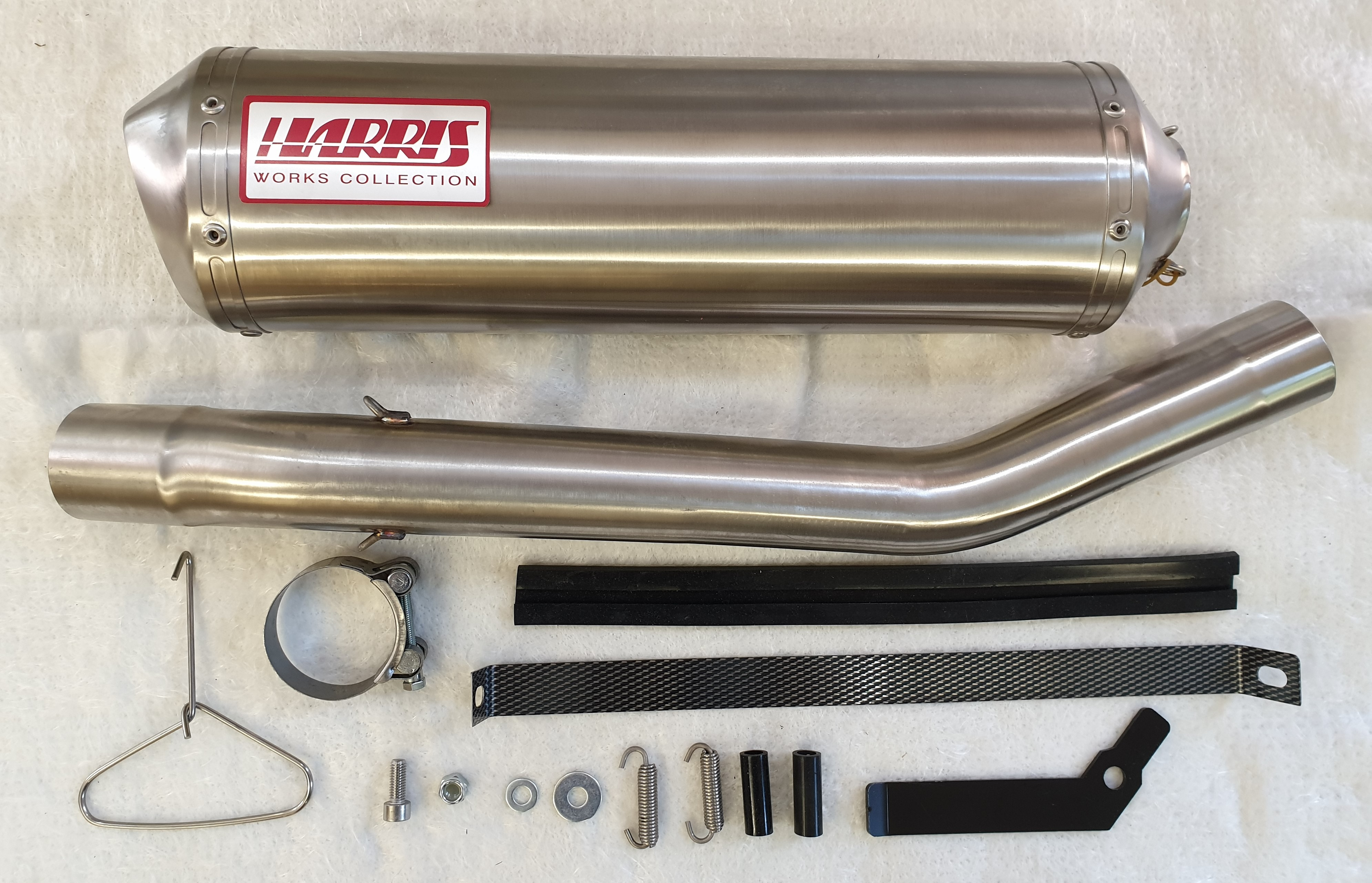 HARRIS WORKS COLLECTION STAINLESS SLIP-ON FOR SUZUKI GSF1200 BANDIT - S 1997/04