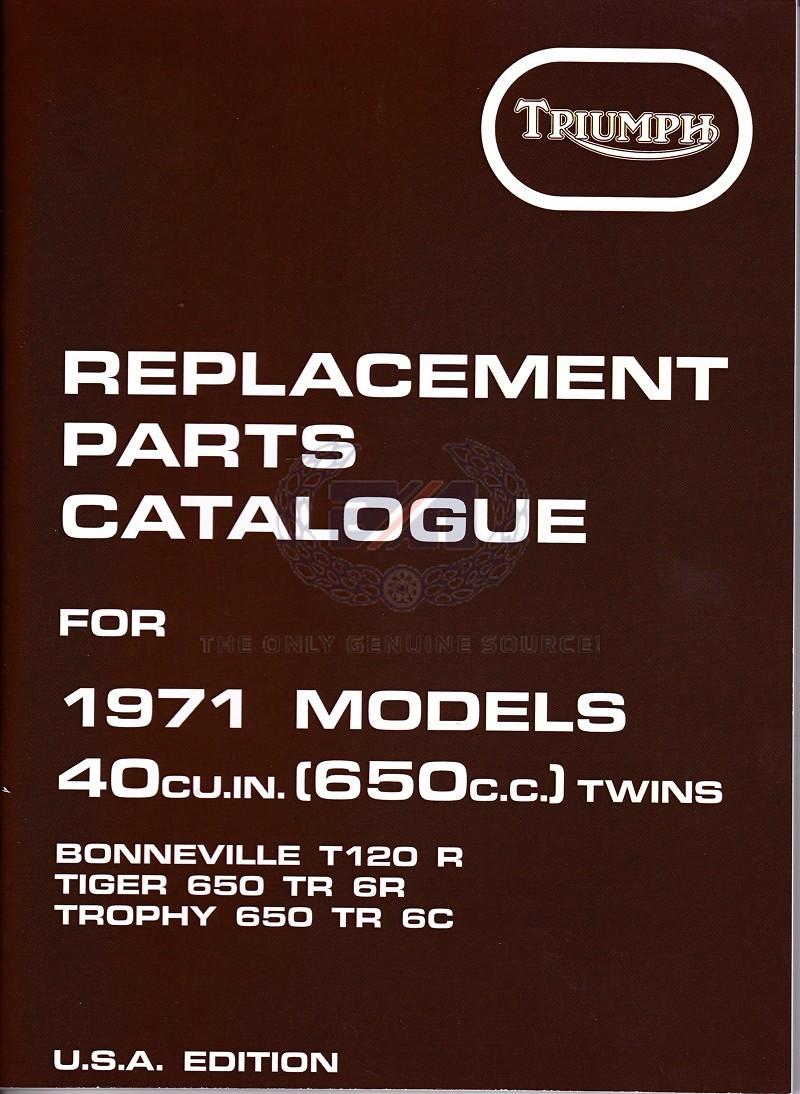 PARTS BOOK T120 1971