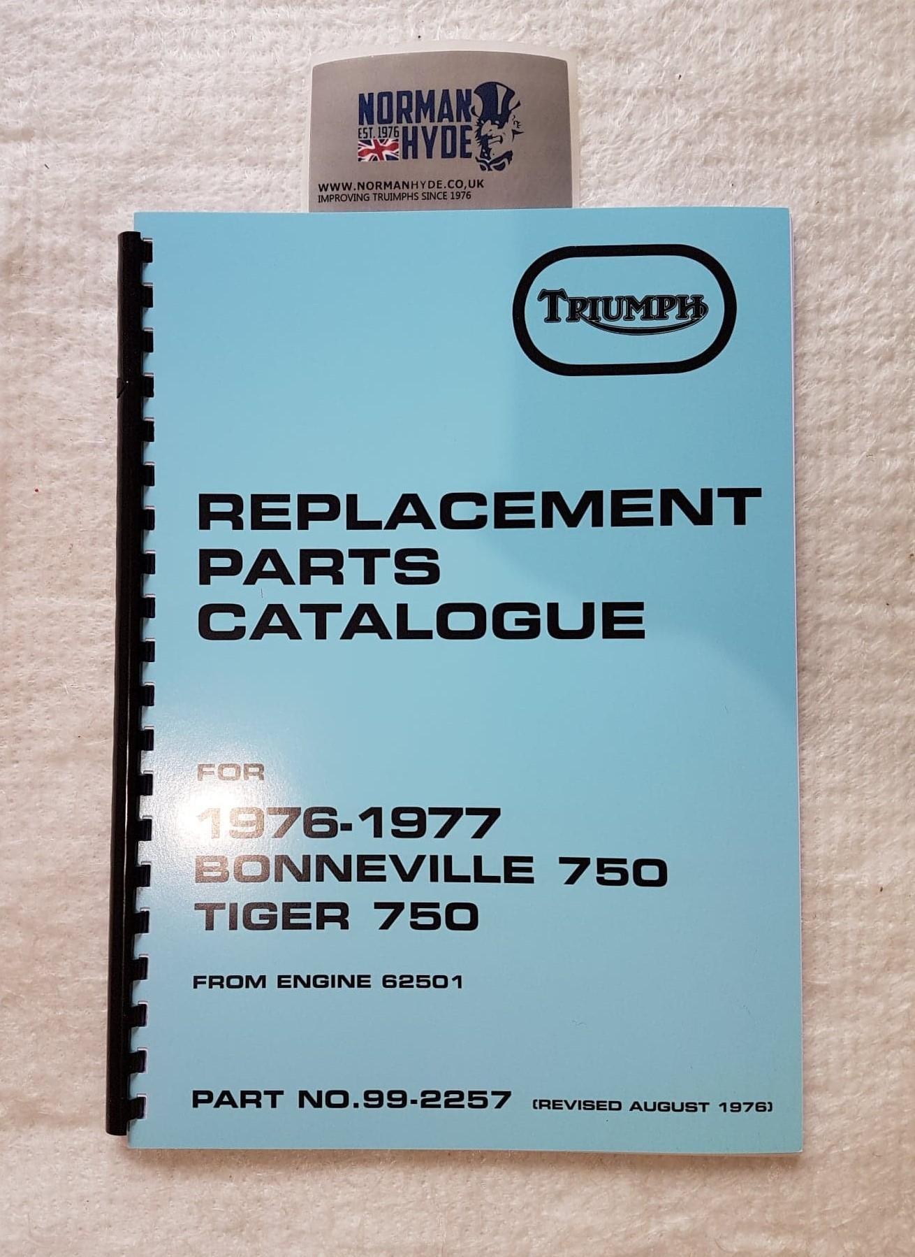 PARTS BOOK T140V 1976/77