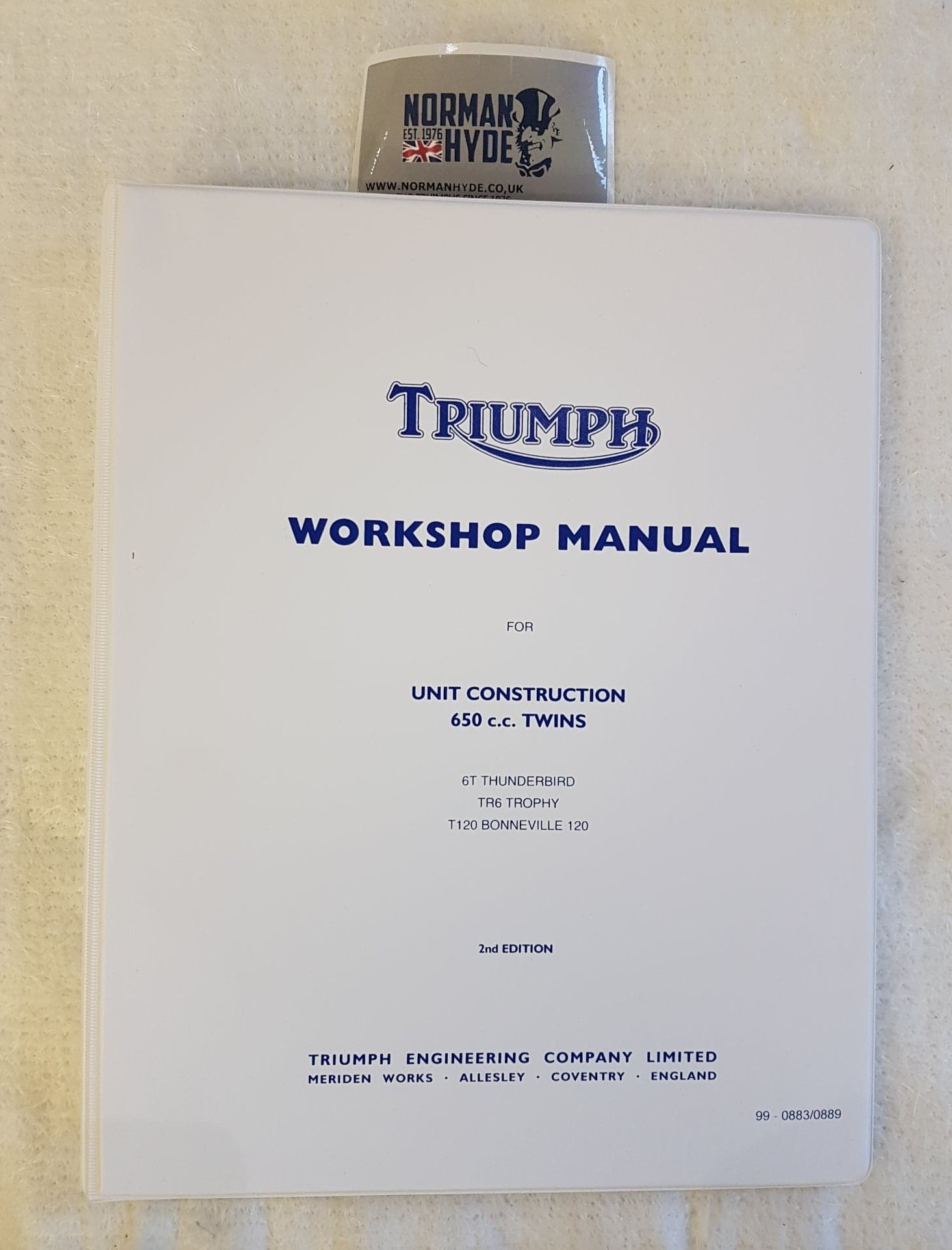 WORKSHOP MANUAL T120 1963-70