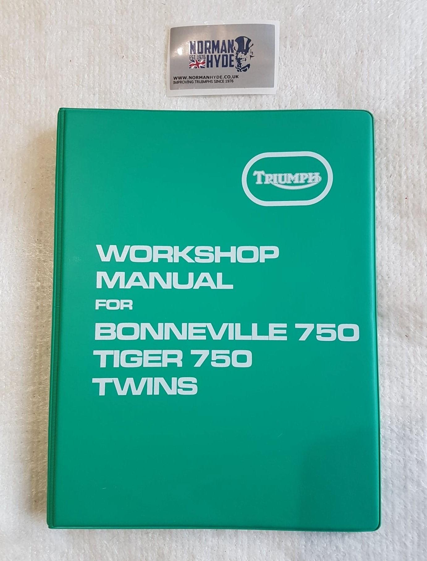 WORKSHOP MANUAL T140V 73-78