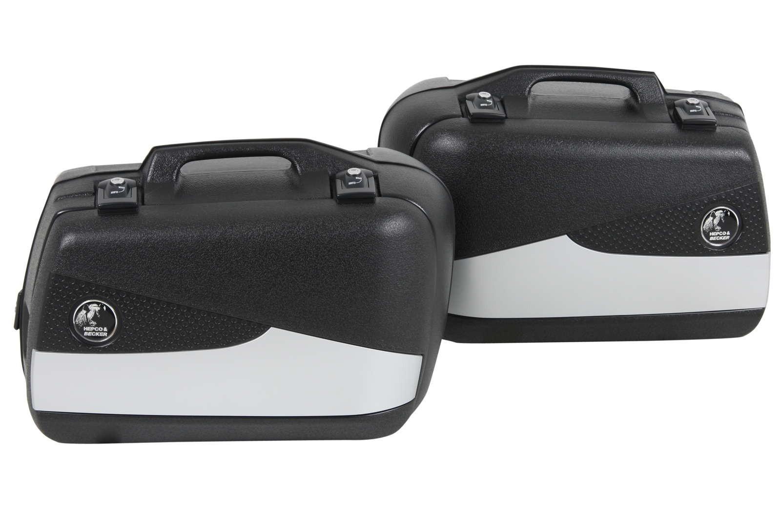 Hepco & Becker Junior 40L Flash Black/Silver Pannier Set