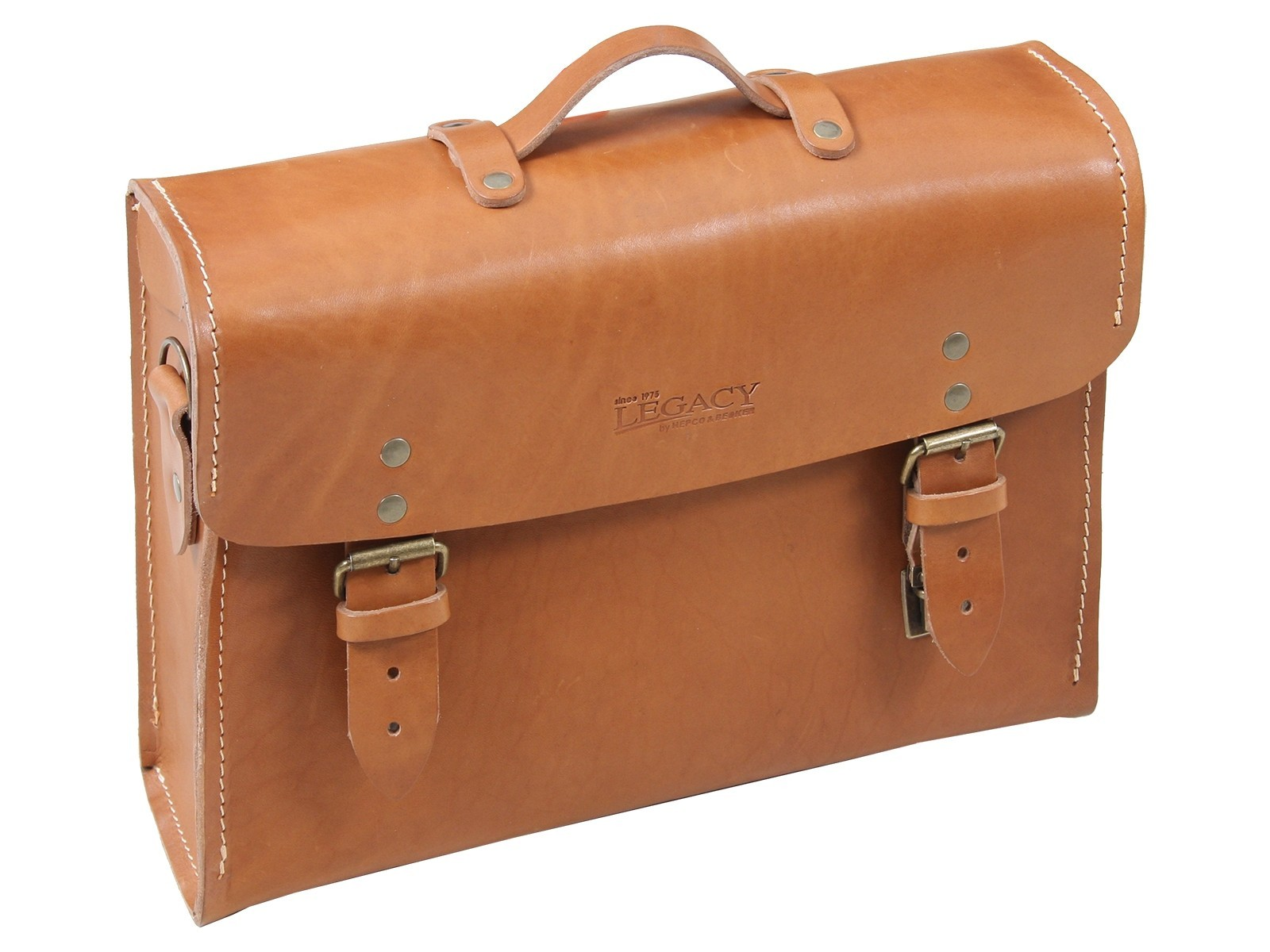Hepco & Becker Legacy Leather Briefcase - Brown (Single Bag)