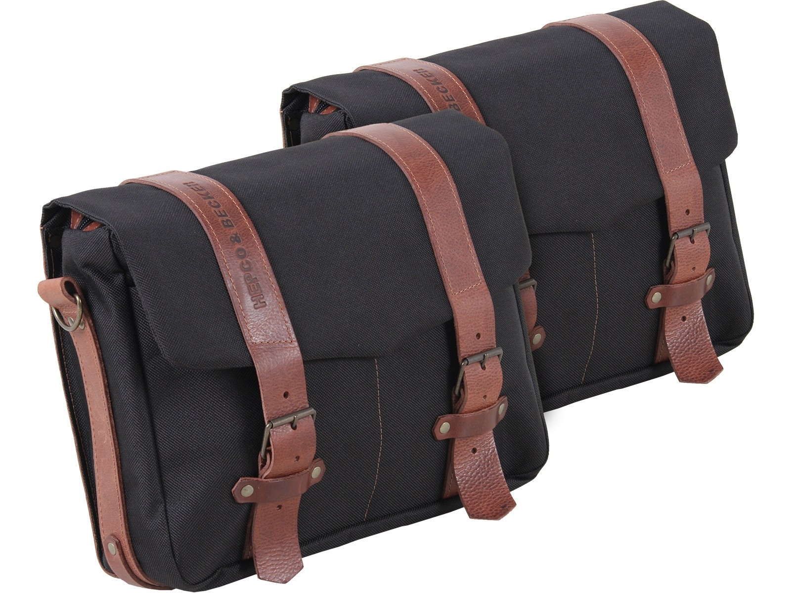 Hepco & Becker Legacy Courier Bag Set (Large Pair) for C-Bow Carrier - Black