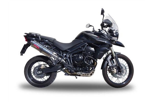 Triumph Tiger 800 Exhaust Stainless Tri-Oval (2011-2016)
