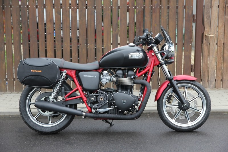 Triumph Bonneville T100 Panniers By Krauser Bonneville T100 With
