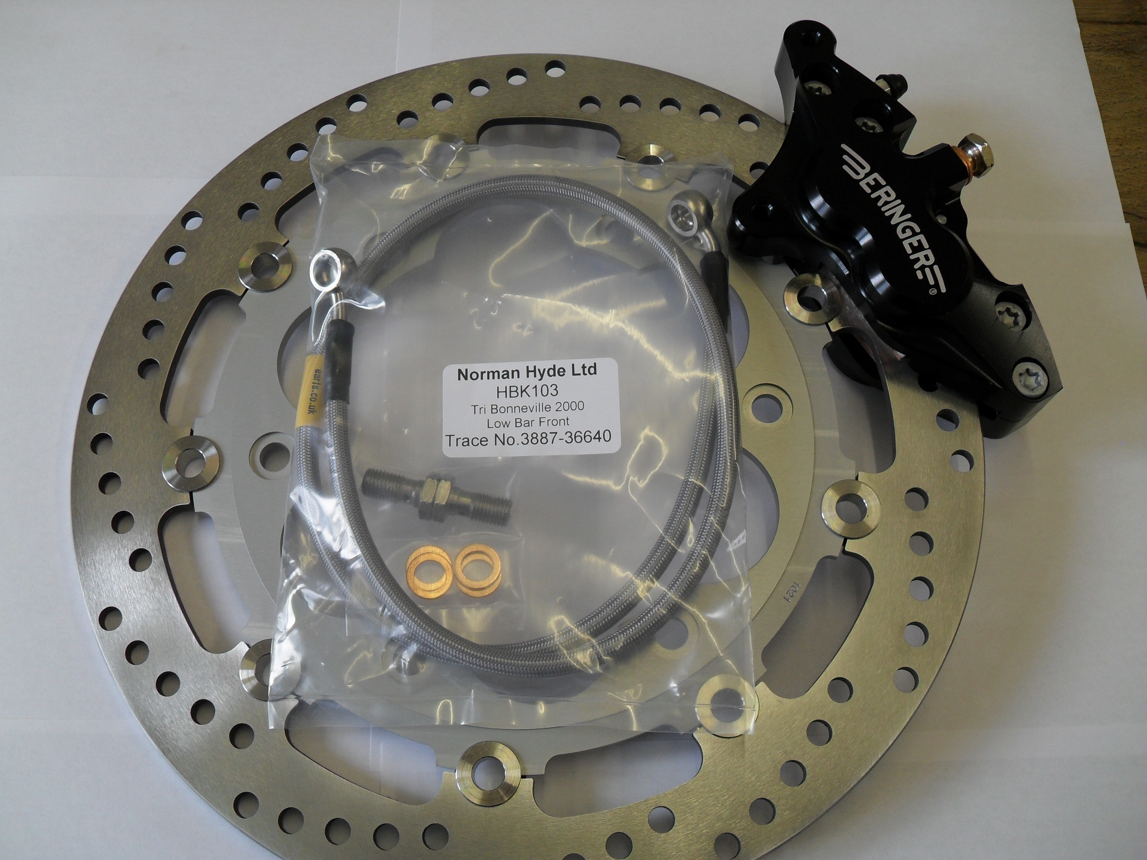 Full brake conversion kit consisting