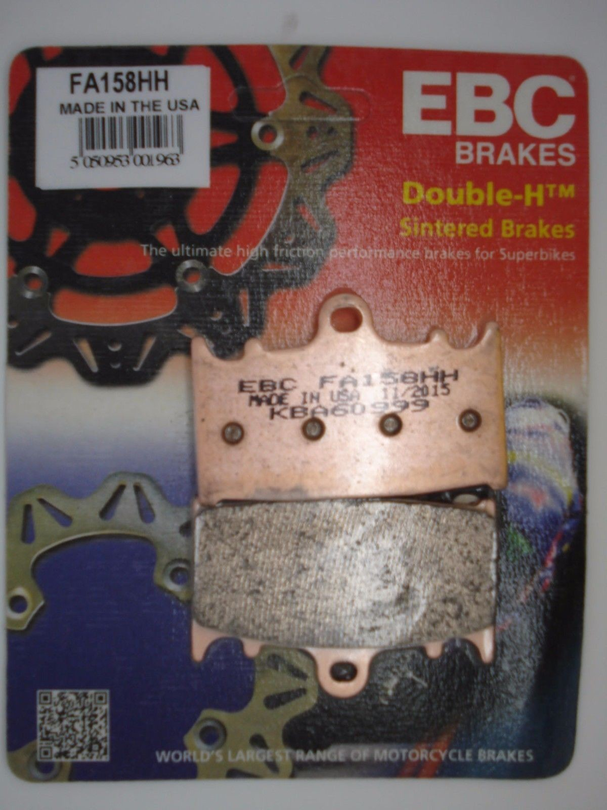 EBC BRAKE PAD SET TO SUIT BERINGER CALIPER