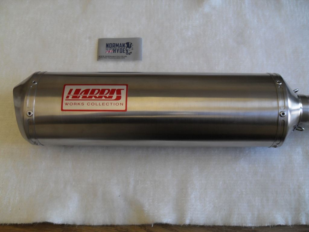 HARRIS WORKS COLLECTION STAINLESS SLIP-ON FOR TRIUMPH SPEED TRIPLE 1998/01