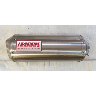 HARRIS WORKS COLLECTION STAINLESS SLIP-ON FOR HONDA CBR600F PC 35 1999/00
