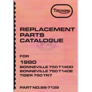 PARTS BOOK T140 1980