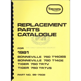 PARTS BOOK T140 1981