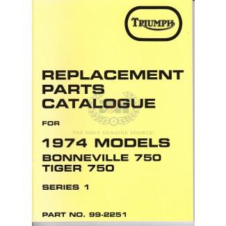 PARTS BOOK T140 1974