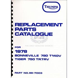 PARTS BOOK T140 1978