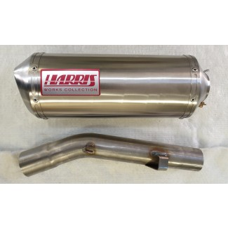 HARRIS WORKS COLLECTION STAINLESS SLIP-ON FOR HONDA CBR600F PC 31 1991/98