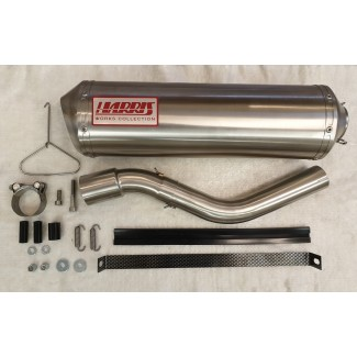 HARRIS WORKS COLLECTION STAINLESS SLIP-ON FOR KAWASAKI KLR650 1988/05