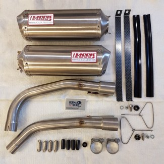 HARRIS WORKS COLLECTION STAINLESS SLIP-ON FOR HONDA VTR1000 SP-1  RC51 2000/01