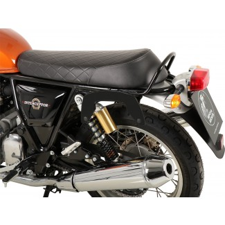 ROYAL ENFIELD 650 INTERCEPTOR HEPCO AND BECKER C-BOW PANNIER FRAMES IN BLACK