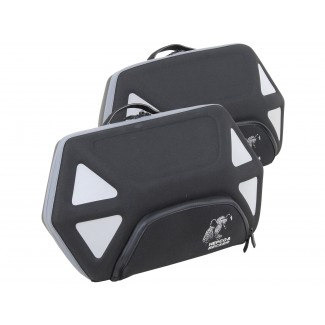 Hepco & Becker 'Royster' Softbags Set - Black/Grey for C-Bow Carrier