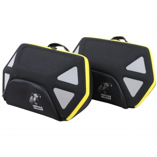 Hepco & Becker 'Royster' Softbags Set - Black/Grey with Yellow Zipper for C-Bow Carrier