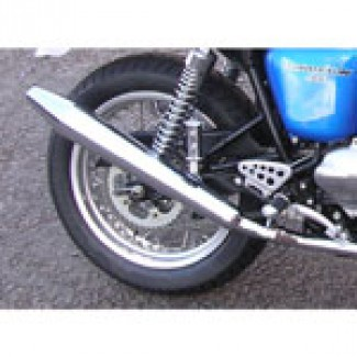 THRUXTON TOGA PEASHOOTER SILENCER PAIR 900 THRUXTON TO 2015 IN BRIGHT CHROME