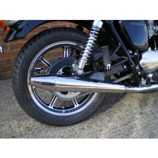 2009on NORMAN HYDE TOGA CHROME PEASHOOTER SILENCER PAIR TO FIT CAST WHEEL BONNY 2009-2015