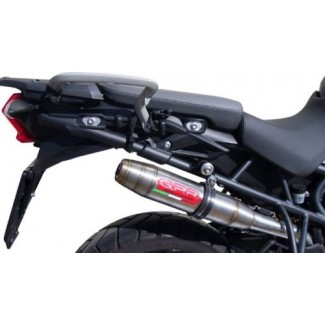 Triumph Tiger 800 / XC Exhaust Stainless Deeptone by GPR Italian made.