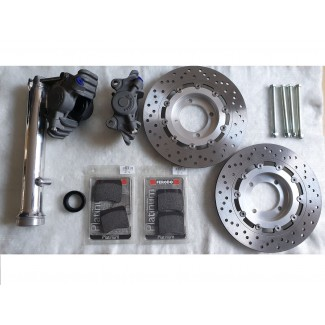 TWIN DISC KIT WITH ALLOY CALIPERS & DISCS T120V TR7 T140 T150V T160