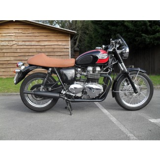 BONNEVILLE/T100 CLASSIC SILENCER PAIR BLACK . Toga by Norman Hyde 2000-2015 With Spoke Type Wheels