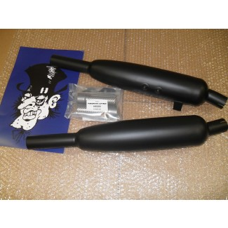 2009on CLASSIC SILENCER PAIR Black Toga by Norman Hyde 2009-2015 Cast Wheel Bonny