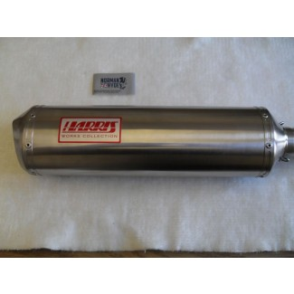 HARRIS WORKS COLLECTION STAINLESS SLIP-ON FOR HONDA AFRICA TWIN NXR750 1990/92