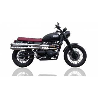 GPR DEEPTONE STAINLESS Dual Slip-On Silencers for Triumph Scrambler 900 (2006-14)