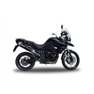 Triumph, Tiger 800 Exhaust - Speedcone Black Stainless