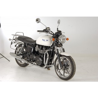 Hepco & Becker Combined Pannier Frames and Rear Carrier - Chrome T100/Bonneville/SE UP TO 2015