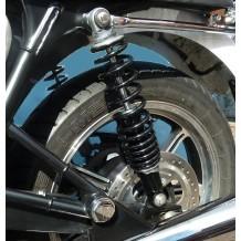 Bonneville/T100 Ikon rear shocks black  body black spring FITS SPOKE WHEEL BONNY T100 BEFORE 2016